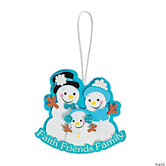 Faith Snowman Ornament Craft