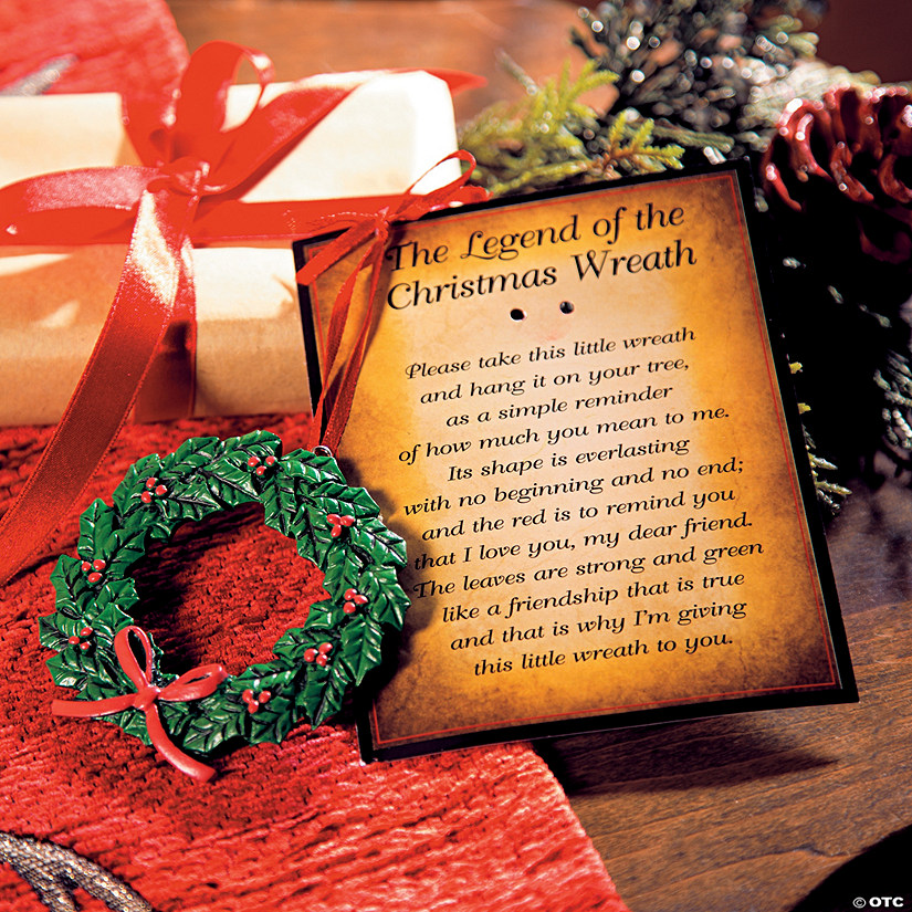 Legend Of The Christmas Tree Poem: The Legend Of The Christmas Wreath Ornaments On Card