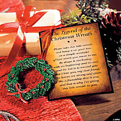 The Legend of the Christmas Wreath Ornaments on Card
