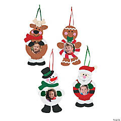 Christmas Character Picture Frame Ornaments