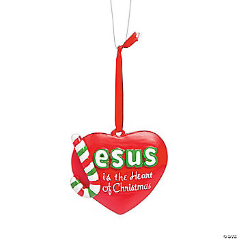Jesus is the Heart of Christmas Ornaments