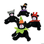 Plush Halloween Cats with Hats