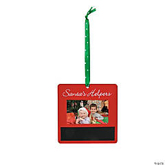Chalkboard Picture Frame Christmas Ornaments