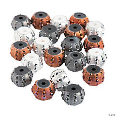 Metallic Sparkle Large Hole Beads - 10mm