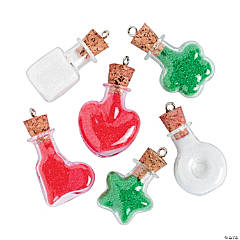 Holiday Mini Bottle Charms - 30mm - 35mm