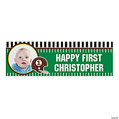 1st Birthday Touchdown Custom Photo Banner