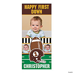 Personalized Photo Football Birthday Door Cover