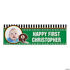 1st Birthday Touchdown Medium Custom Photo Banner