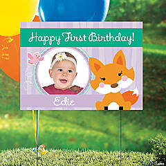 Lil' Fox Custom Photo Yard Sign