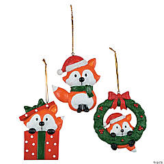 Christmas Fox Ornaments