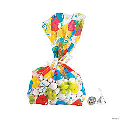 Bright Balloons Cellophane Bags
