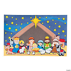 Giant Nativity Sticker Scenes