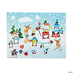 Religious Winter Sticker Scenes
