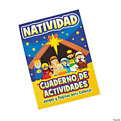 Spanish Nativity Activity Books with Stickers