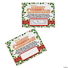 25 Days of Christmas Scratch Cards