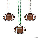 Football Beaded Necklaces