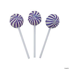 Purple Swirl Ball Lollipops
