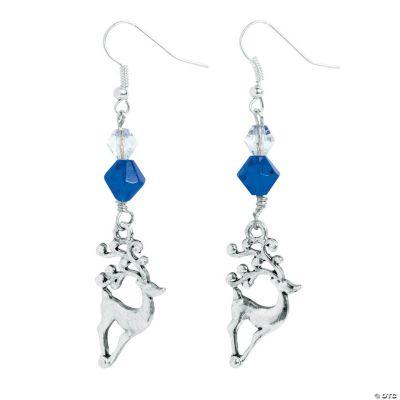 Silvertone Reindeer Earrings Craft Kit