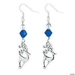 Silvertone Reindeer Earrings Craft Kit