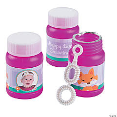 Lil' Fox Custom Photo Mini Bubble Bottles