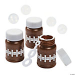 Football Mini Bubble Bottles