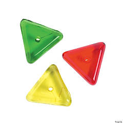 Red & Green Triangle Beads - 8mm