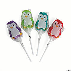 Holiday Brights Penguin Character Lollipops