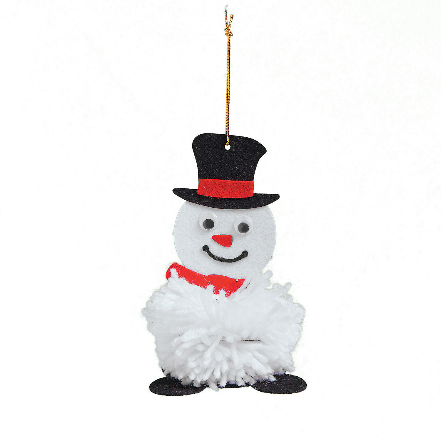 The Pom Pom Ornament Craft That Never Ends: Pom-Pom Snowman Ornament Craft Kit