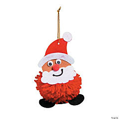 Pom-Pom Santa Ornament Craft Kit