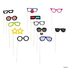 Silly Glasses Photo Stick Props