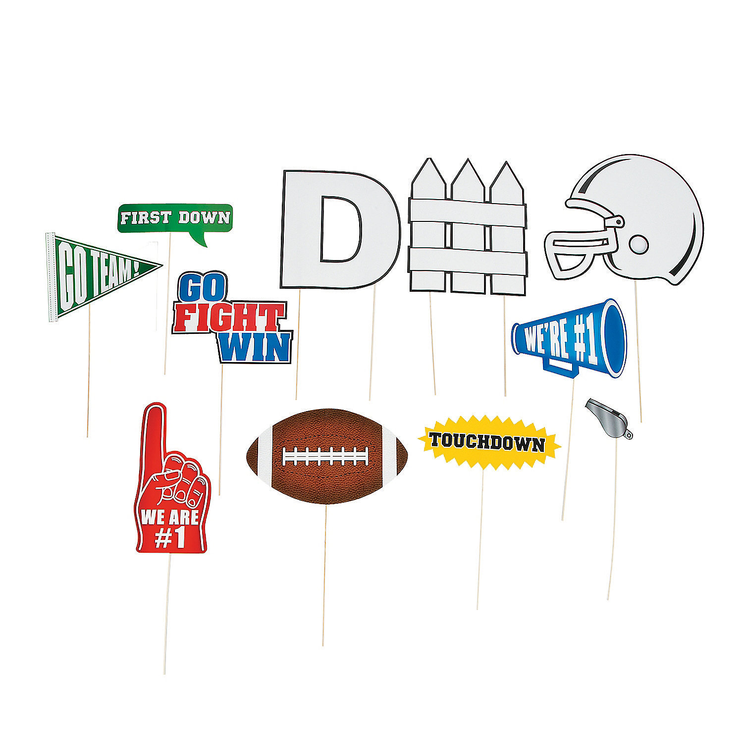 Football Party Photo Props Football Photo Stick Props