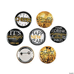 New Year's Eve Buttons