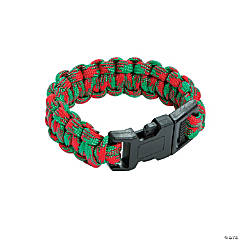 Small Red & Green Paracord Bracelets
