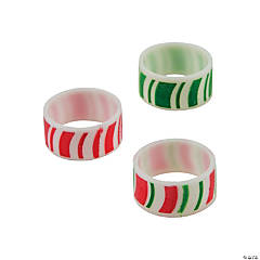 Silicone Candy Cane Rings