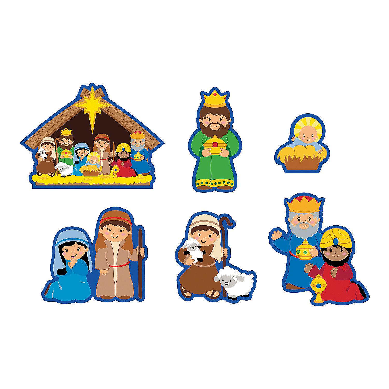 jumbo nativity cutouts in 13666158 these easy to use nativity cutouts ...