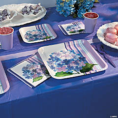 Hydrangea Stripe Party Supplies