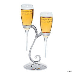 Baseless Personalized Champagne Flutes