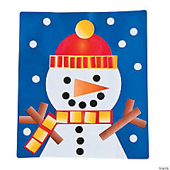 Snowman Made Out of Shapes Craft Kit