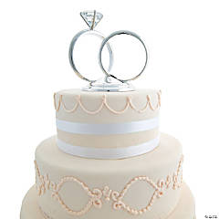 Wedding Ring Cake Topper
