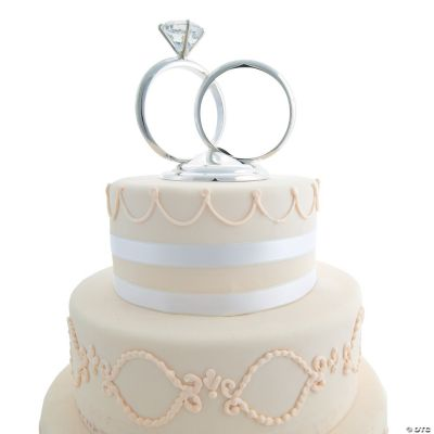 Wedding Ring Cake Topper, Cake Toppers, Party Tableware ...