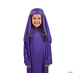 Polyester Child's Purple Nativity Hat