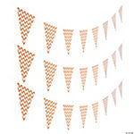 Orange Chevron Pennant Banner