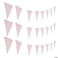 Light Pink Chevron Pennant Banner