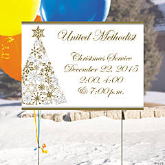 Metallic Christmas Personalized Yard Sign