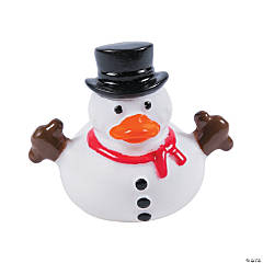 Vinyl Snowman Rubber Duckies