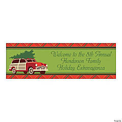 Medium Cozy Christmas Personalized Banner