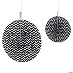 Black Chevron Hanging Fans