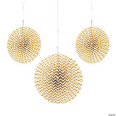 Gold Chevron Hanging Fans