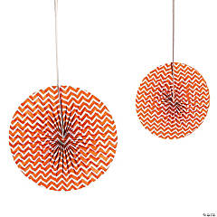 Orange Chevron Hanging Fans
