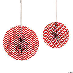 Red Chevron Hanging Fans